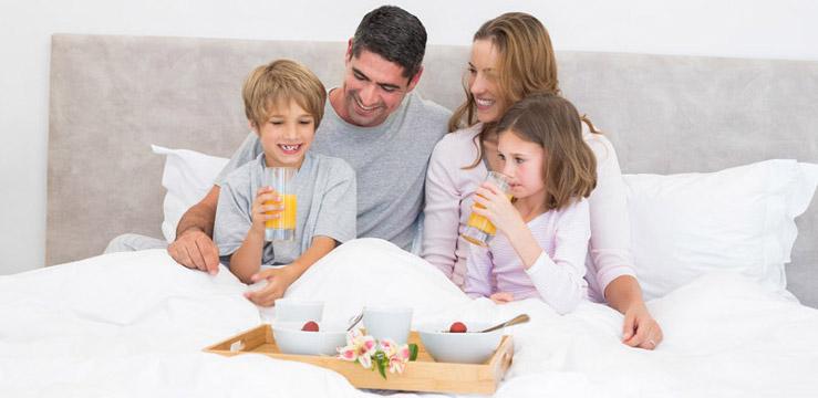 Frühstück Familie